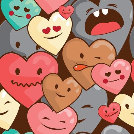 hearts seamless pattern Stock Vector - 21450643