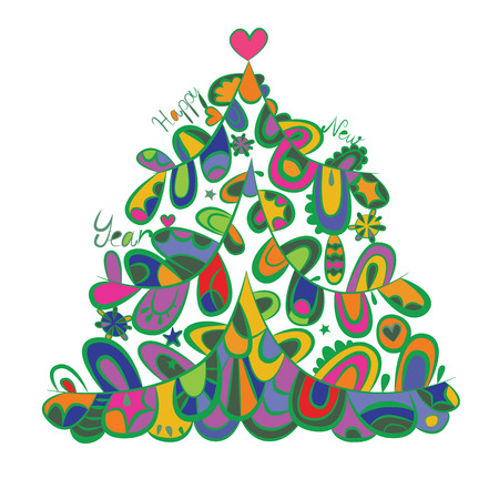 esoterics: Fantasy Cristmas fir-tree design