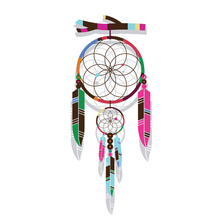 Magic dream catcher Vector
