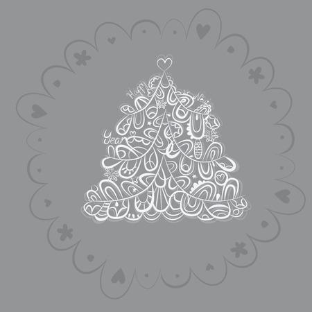 firtree: Fantasy fir-tree invitation design