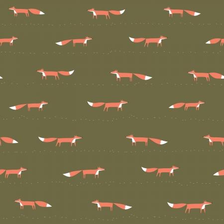 seamless: Fox bezešvé vzor