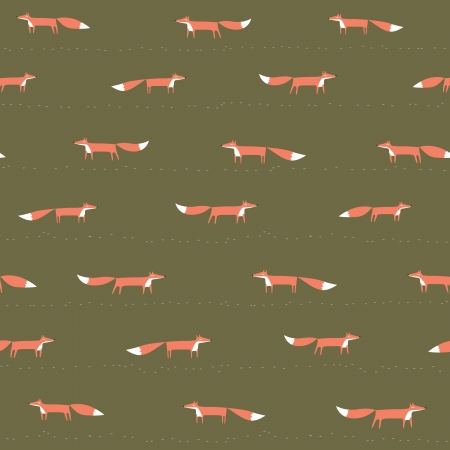 foxes: Fox seamless pattern