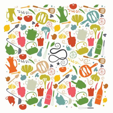 caterer: Cookbook cover Illustration