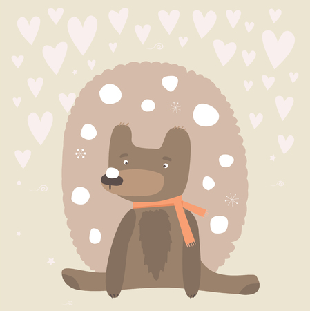 baby bear: Baby bear holiday card