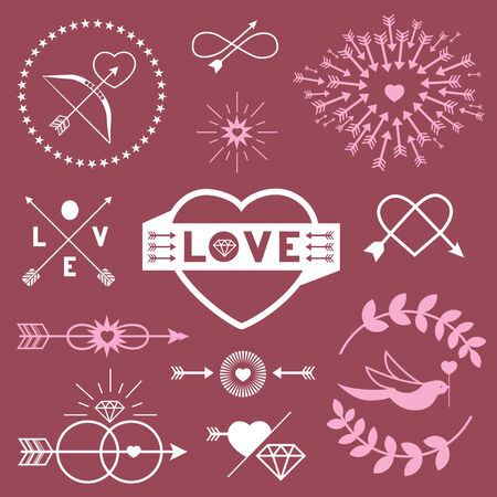 elements for romantic  designs Vector