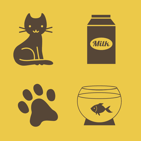 aquarian: cats theme icons