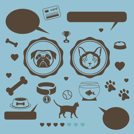 cat fish: Cat vs dog infographic template