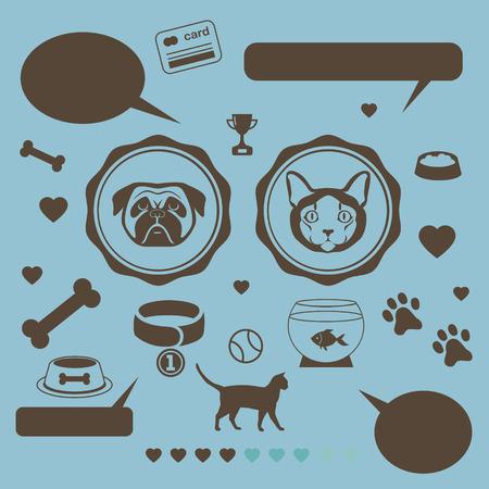 aquarian fish: Cat vs dog infographic template