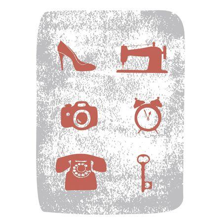 repair shop: Iconos de la tienda de reparaci�n establecidos Vectores