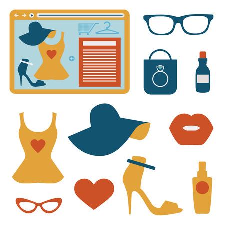 Fashion flat icons
