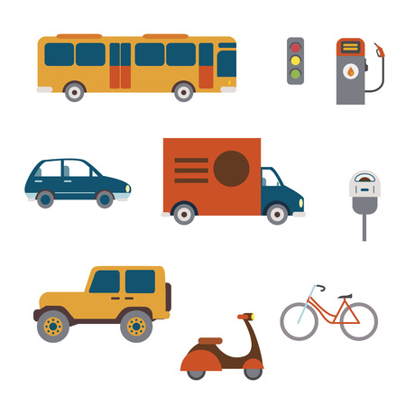 City transport illustrations