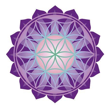 Floral esoteric design