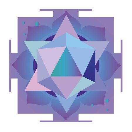 Violet esoteric design