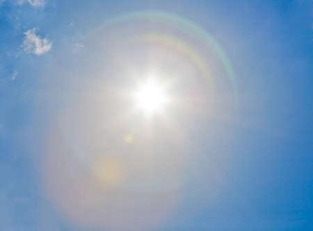 Sun on the blue sky Stock Photo