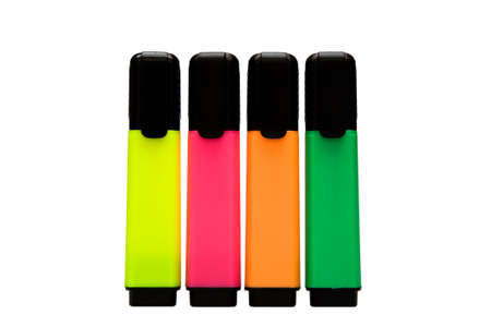 Some colourful office marker on white background