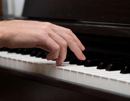 I music maker! Closeup foto di Le Mans pianista maniglia.