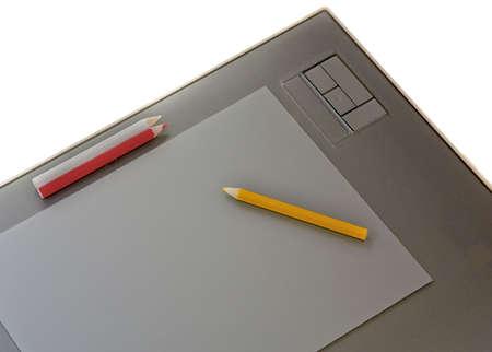 Tavola grafica con matita di colore Archivio Fotografico