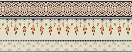 Geometric ethnic pattern vector design for raw material, background,clothing,wrapping,Batik ,fabric.