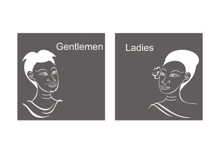 thai women: Thai style toilet signs Illustration