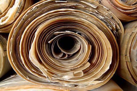 vellum: Antique Vellum Blueprint in Rolls Stock Photo