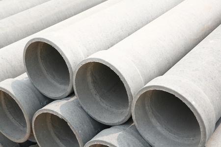culvert: Concrete drainage pipes Stock Photo