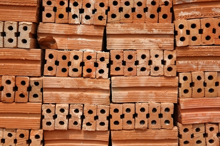 protection of arable land: Stack of Red Bricks