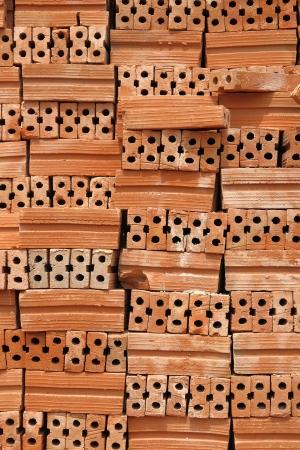 Stack of Red Bricks Stock Photo - 17852546