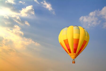 hot air balloons festival: Hot Air Balloon in the Sky Stock Photo
