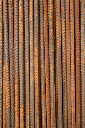 reinforcing bar: Rusty Metal Rods Background