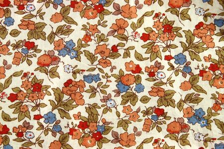 Pattern of Vintage Flowers Fabric photo