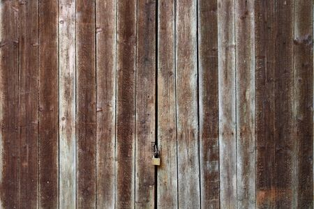 Old Wooden Door with Lock Stock Photo - 18404040