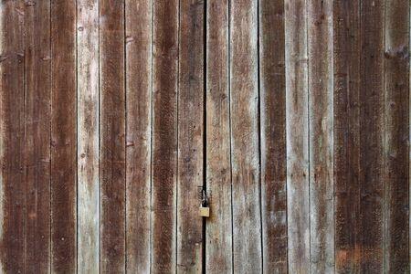Old Wooden Door with Lock Stock Photo - 18404040