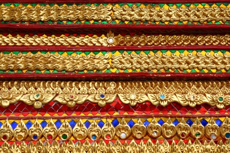 Thai Art Details from Thai Temple photo