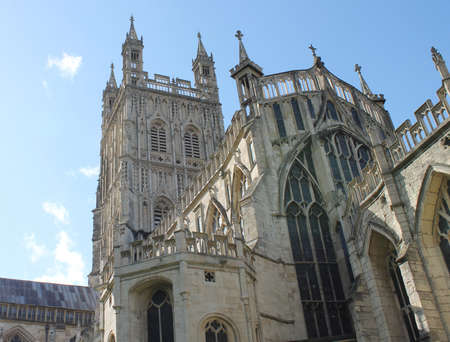 indivisible: View of Gloucester Cathedral  more formally known as the Cathedral Church of St Peter and the Holy and Indivisible Stock Photo