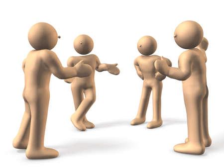 discutere: 4 persone sono desiderosi di discutere