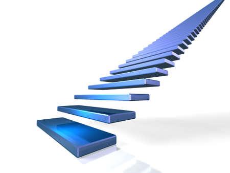first step: Der ewige Treppe symbolisiert den ersten Schritt