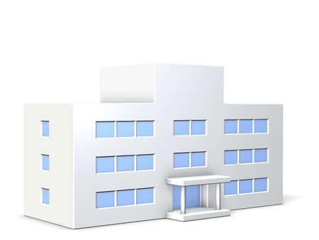 Los modelos de los edificios escolares Foto de archivo - 13865841