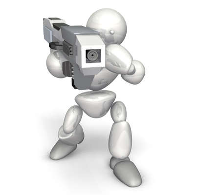 超電磁砲これは白い背景の上のコンピューター生成イメージ