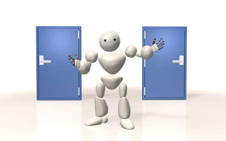 ロボットはあなたに 2 つの選択肢を与えています。