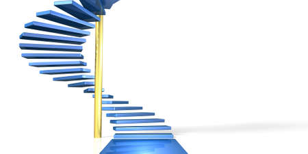 A spiral staircase, represents the beginning of growth   photo