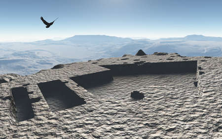 3dcg: Imaginary landscapes created by 3DCG
