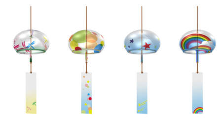 wind chimes: Japanese traditional summer feature Stock Photo