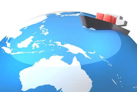 アジア航路を表しますこれはコンピュータ グラフィックス