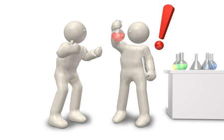 学者は、新しい薬の完成に満足しています。 写真素材 - 14069687