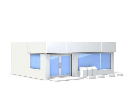 コンビニエンス ストアのミニチュア モデル 写真素材