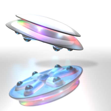 CG image representing the UFO