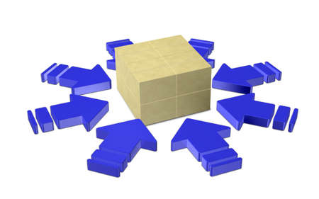 centralized: A distribution center of goods Stock Photo