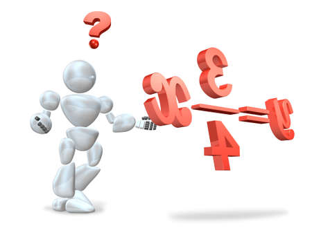CG image representing the Difficult equation  photo