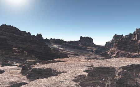 Stage of desolate desert