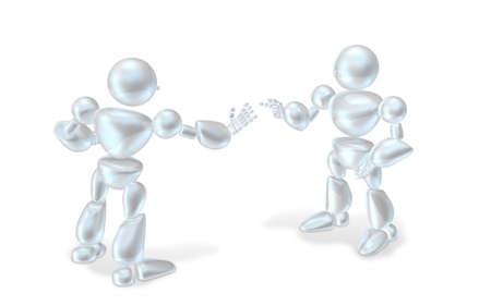 2 台のロボットがお互いに議論して
